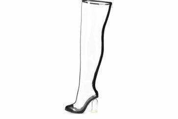 Giaro Stiefel in Übergrößen Transparent Fiona Clear PVC große Damenschuhe – Bild 1