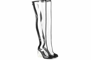 Giaro Stiefel in Übergrößen Transparent Fiona Clear PVC große Damenschuhe – Bild 5