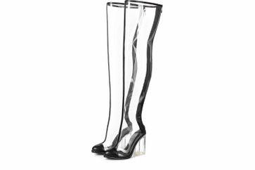 Giaro Stiefel in Übergrößen Transparent Fiona Clear PVC große Damenschuhe – Bild 6