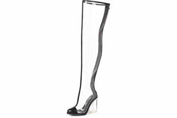 Giaro Stiefel in Übergrößen Transparent Fiona Clear PVC große Damenschuhe – Bild 7