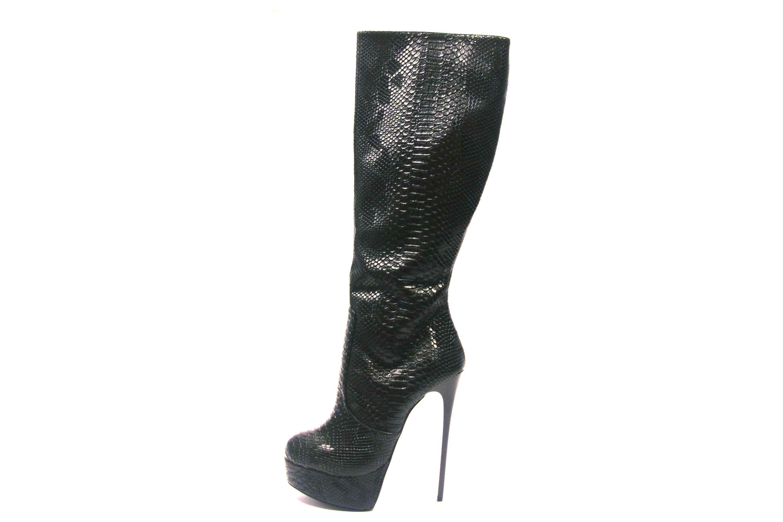Giaro Bottes Dans Grandes Tailles Grandes Chaussures Femmes Noir XXL
