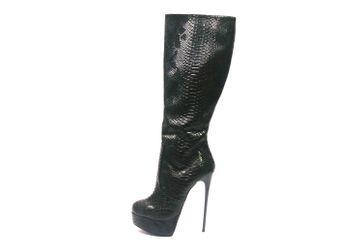 Giaro Stiefel in Übergrößen Schwarz Galana 1003 Black Snake große Damenschuhe – Bild 1
