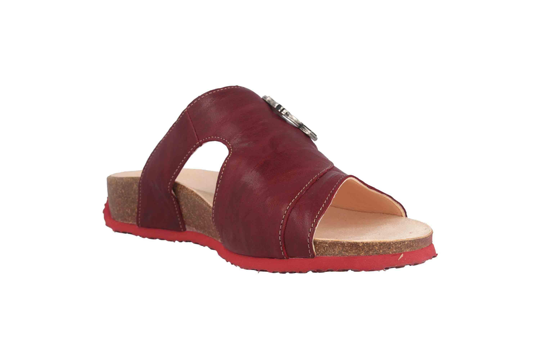 Think! Mizzi Pantoletten in Übergrößen Rot 8-88351-72 große Damenschuhe – Bild 5
