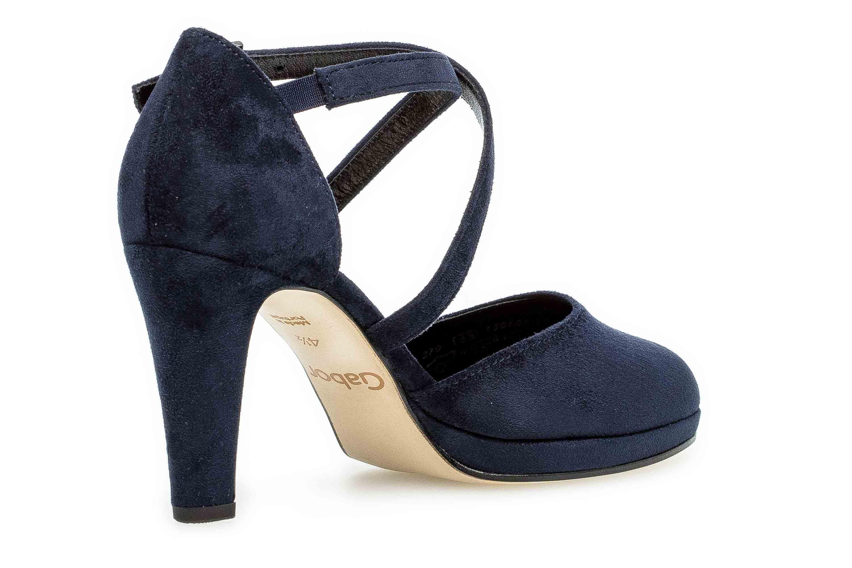 Details zu Gabor Fashion Pumps in Übergrößen Blau 31.370.46 große Damenschuhe