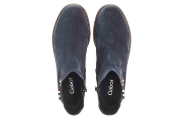 Gabor Fashion Stiefeletten in Übergrößen Blau 31.831.36 große Damenschuhe – Bild 7