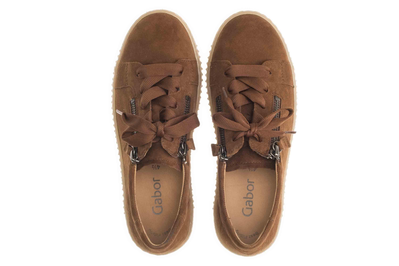 Gabor Jollys Sneaker in Übergrößen Braun 33.334.12 große Damenschuhe