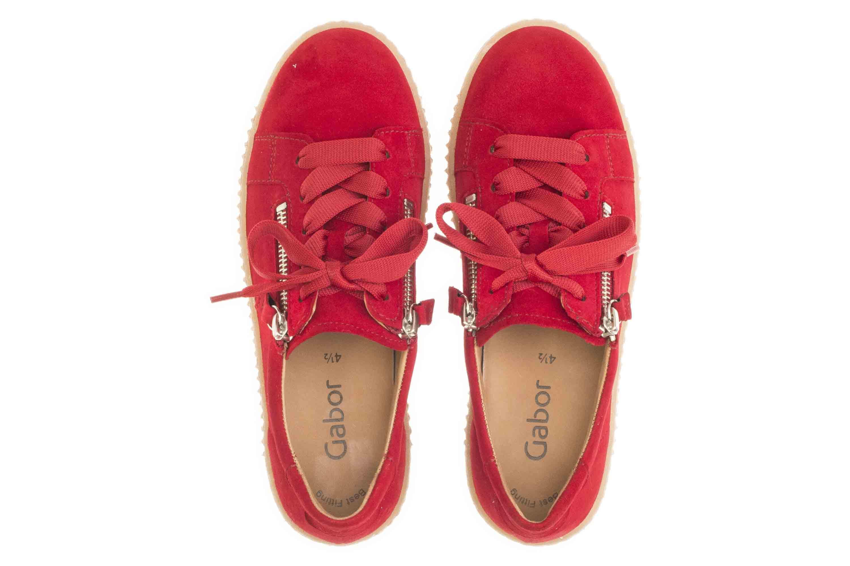 Gabor Jollys Sneaker in Übergrößen Rot 33.334.15 große Damenschuhe – Bild 7