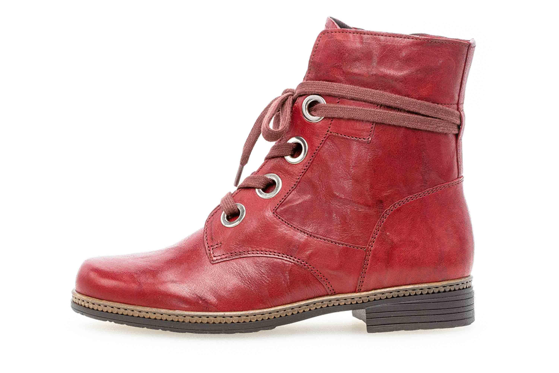 Gabor Casual Stiefeletten in Übergrößen Rot 34.672.55 große Damenschuhe