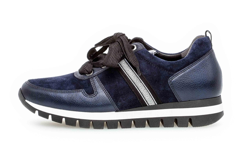 Gabor Comfort Basic Sneaker in Übergrößen Blau 36.435.36 große Damenschuhe