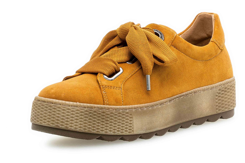 Gabor Florenz Sneaker in Übergrößen Curry 36.535.30 große Damenschuhe – Bild 6
