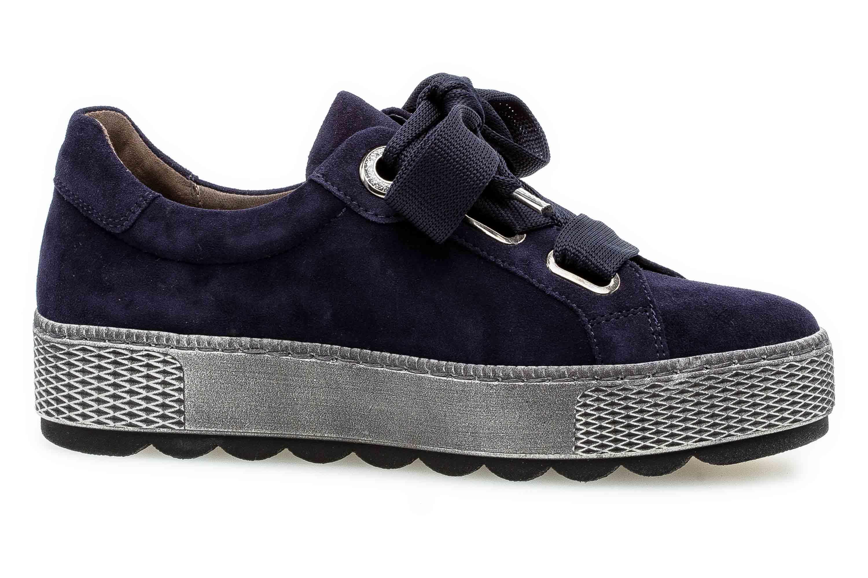 Gabor Florenz Sneaker in Übergrößen Blau 36.535.36 große Damenschuhe – Bild 4