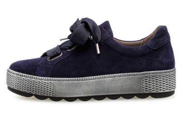 Gabor Florenz Sneaker in Übergrößen Blau 36.535.36 große Damenschuhe – Bild 1