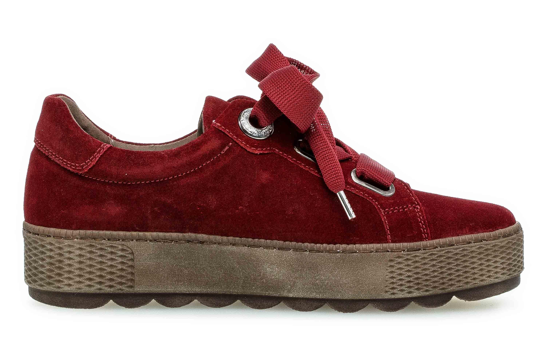 Gabor Florenz Sneaker in Übergrößen Rot 36.535.48 große Damenschuhe – Bild 4