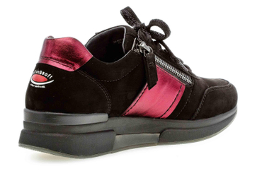 Gabor rollingsoft Sneaker in Übergrößen Schwarz 36.928.87 große Damenschuhe – Bild 3