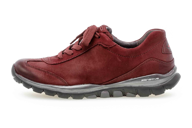 Gabor rollingsoft Sneaker in Übergrößen Rot 36.965.48 große Damenschuhe