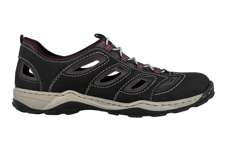 Rieker Sneaker in Übergrößen Schwarz 08065-00 große Herrenschuhe – Bild 4