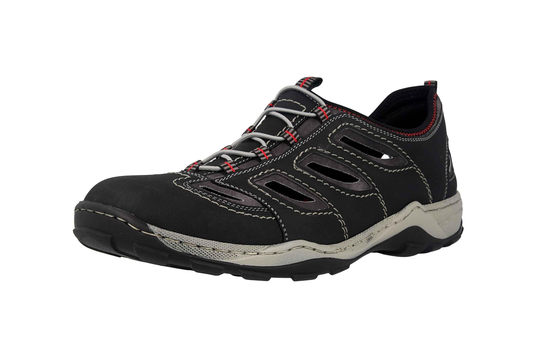 Rieker Sneaker in Übergrößen Schwarz 08065-00 große Herrenschuhe – Bild 6