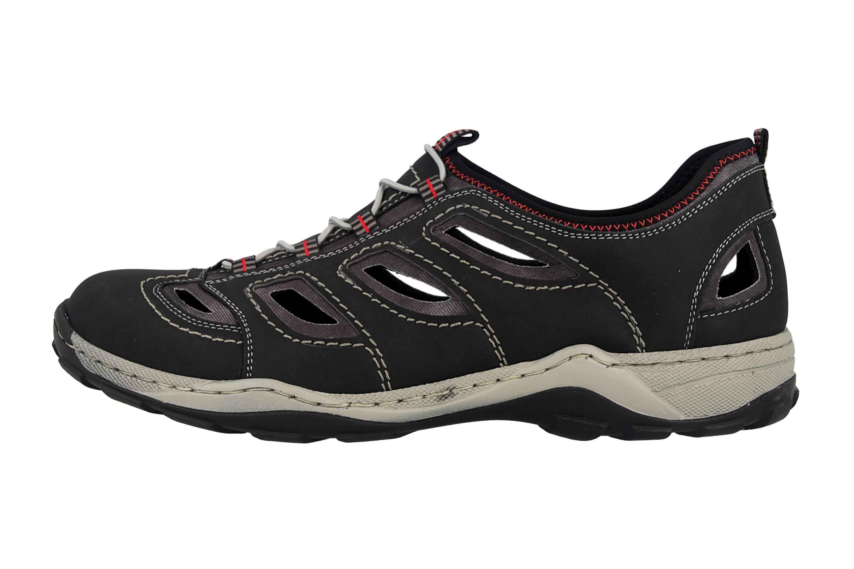 Rieker Sneaker in Übergrößen Schwarz 08065-00 große Herrenschuhe – Bild 1