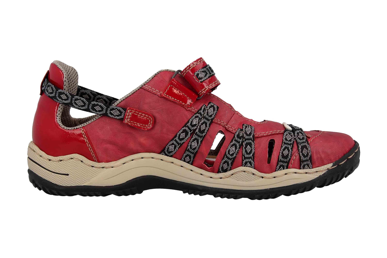 Rieker Sneaker in Übergrößen Rot L0596-35 große Damenschuhe – Bild 4