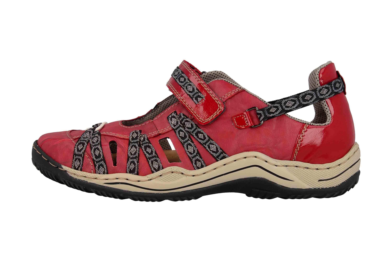 Rieker Sneaker in Übergrößen Rot L0596-35 große Damenschuhe – Bild 1