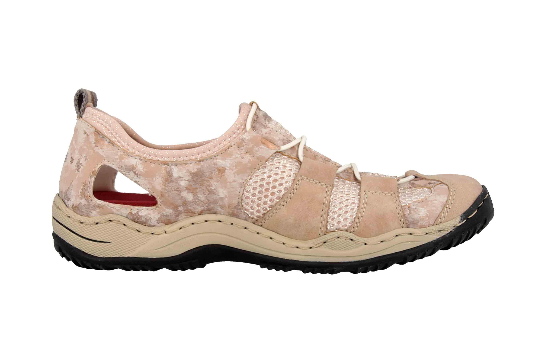 Rieker Sneaker in Übergrößen Rosa L0543-31 große Damenschuhe – Bild 4