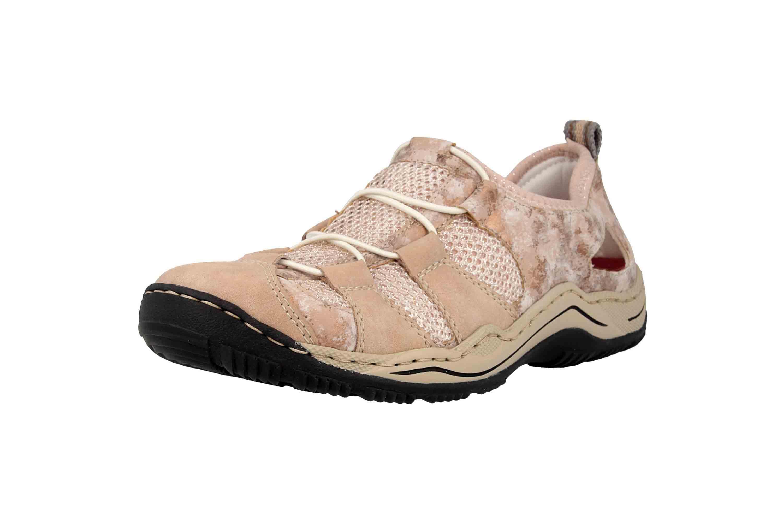 Rieker Sneaker in Übergrößen Rosa L0543-31 große Damenschuhe – Bild 6