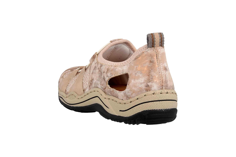 finest selection 54aa9 cb83b Rieker Sneaker in Übergrößen Rosa L0543-31 große Damenschuhe
