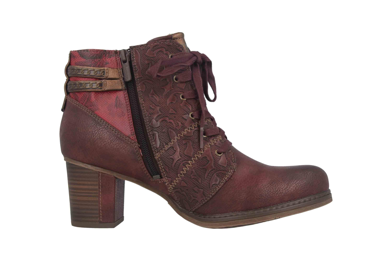 Mustang Shoes Stiefeletten in Übergrößen Bordeaux 1286-507-55 große Damenschuhe – Bild 4