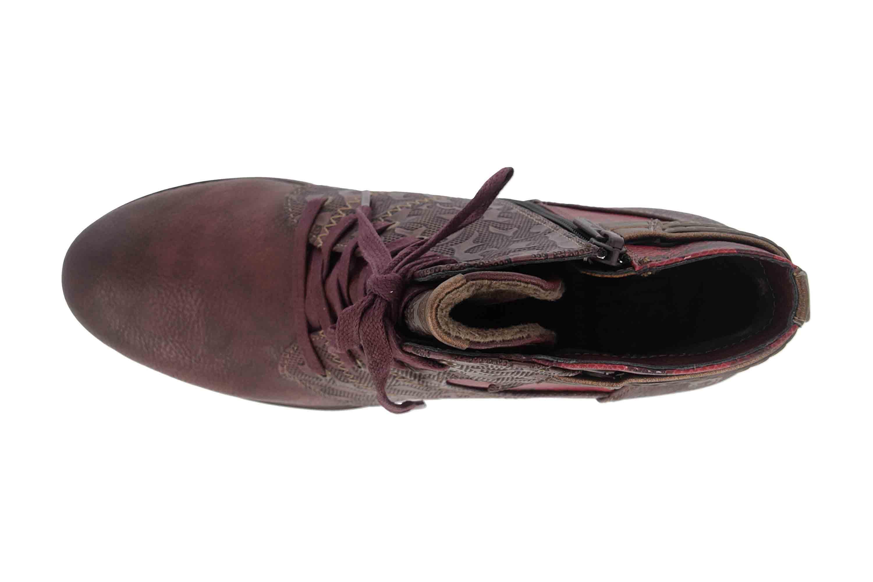 Mustang Shoes Stiefeletten in Übergrößen Bordeaux 1286-507-55 große Damenschuhe – Bild 7