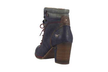 Mustang Shoes Stiefeletten in Übergrößen Blau 1287-519-820 große Damenschuhe – Bild 2