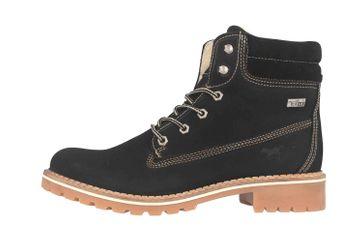 Mustang Shoes Boots in Übergrößen Schwarz 2837-604-9 große Damenschuhe – Bild 1