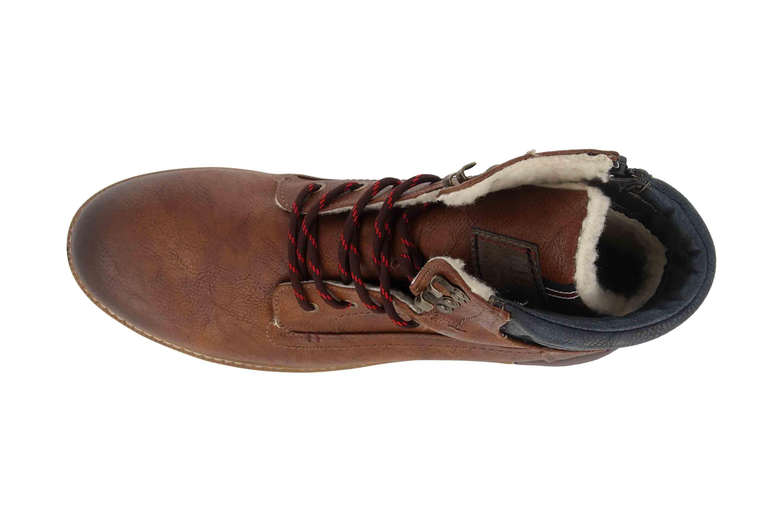 Mustang Shoes Boots in Übergrößen Braun 4142 602 301 große Herrenschuhe