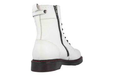 Mustang Shoes Boots in Übergrößen Weiß 2881-502-1 große Damenschuhe – Bild 3
