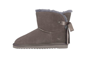 Mustang Shoes Boots in Übergrößen Grau 1343-606-20 große Damenschuhe – Bild 1