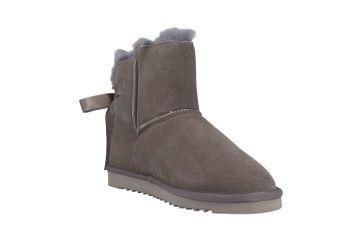 Mustang Shoes Boots in Übergrößen Grau 1343-606-20 große Damenschuhe – Bild 5