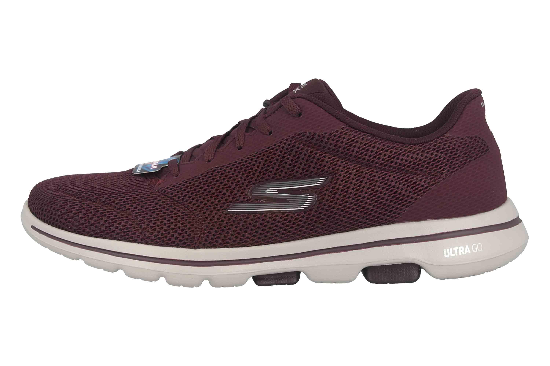 purchase cheap c5540 f5d29 Skechers GO WALK 5 LUCKY Sneaker in Übergrößen Rot 15902 BURG große  Damenschuhe