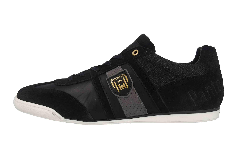 Pantofola d'Oro Imola Scudo Winter Uomo Low Sneaker in Übergrößen Schwarz 10193041.25Y/10193085.25Y große Herrenschuhe – Bild 1