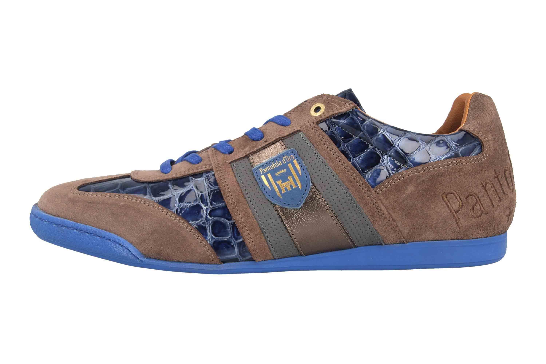 Pantofola d'Oro Imola Scudo Patent Uomo Low Sneaker in Übergrößen Blau 10193065.HFQ/10193087.HFQ große Herrenschuhe – Bild 1