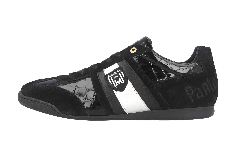 Pantofola d'Oro Imola Scudo Patent Uomo Low Sneaker in Übergrößen Schwarz 10193065.25Y/10193087.25Y große Herrenschuhe – Bild 1