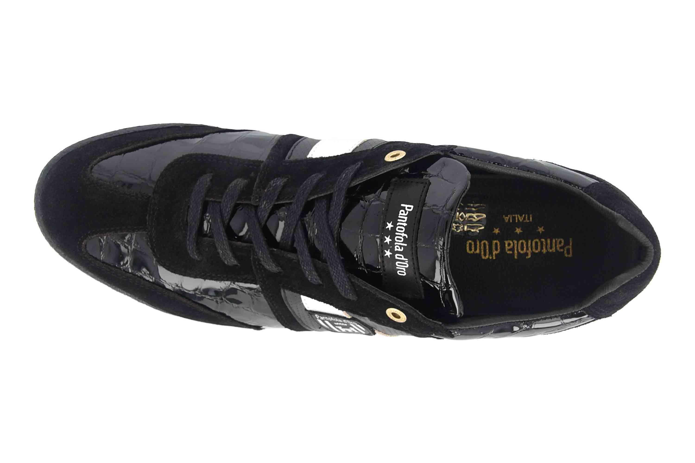 Pantofola d'Oro Imola Scudo Patent Uomo Low Sneaker in Übergrößen Schwarz 10193065.25Y/10193087.25Y große Herrenschuhe – Bild 7