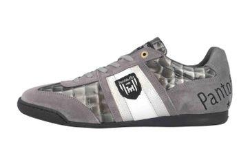Pantofola d'Oro Imola Scudo Patent Uomo Low Sneaker in Übergrößen Grau 10193065.3JW/10193087.3JW große Herrenschuhe – Bild 1