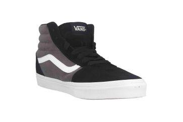 VANS MN Ward Hi (Herringbone) Bk/Pewter Sneaker in Übergrößen Grau VN0A38DN9VT1 große Herrenschuhe – Bild 5