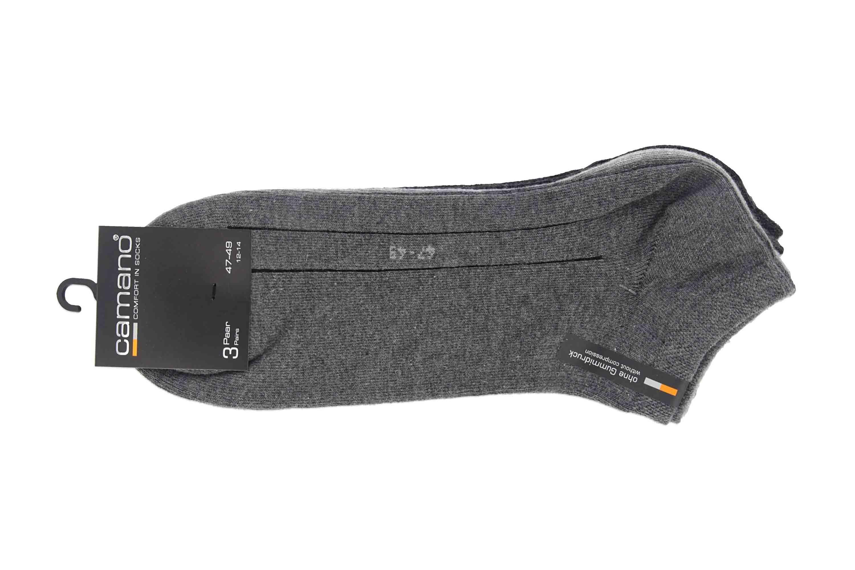 camano - Socken 3er Pack - Basic Sneakersocken - Grau 3003 49 XXL Socken – Bild 1