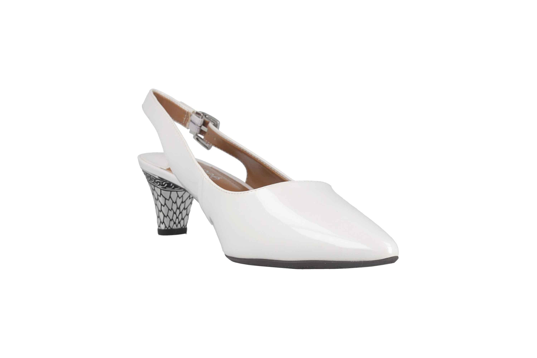 J.Reneé PAWHT Pumps in Übergrößen Weiß Mayetta White Pearl große Damenschuhe – Bild 5