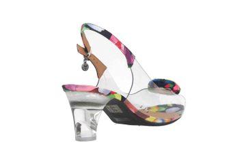 J.Reneé Vinyl/Modern Poppy Floral Pumps in Übergrößen Mehrfarbig Dailona Clear große Damenschuhe – Bild 3