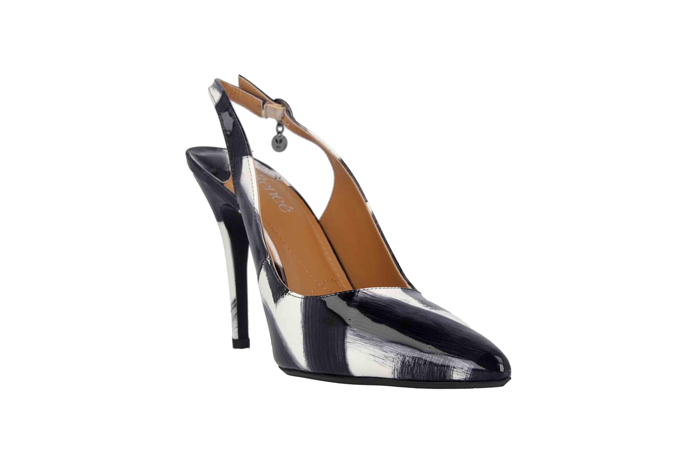 J.Reneé Brushed Pat High Heels in Übergrößen Mehrfarbig Deondra Black White große Damenschuhe – Bild 5