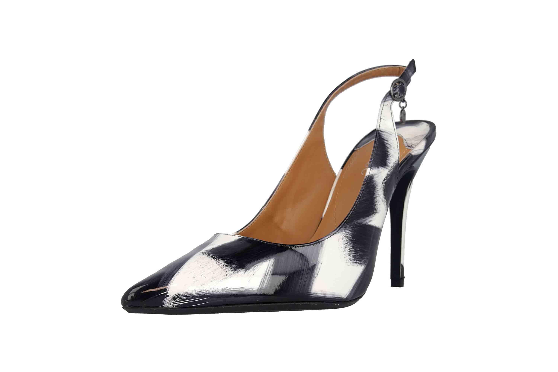 J.Reneé Brushed Pat High Heels in Übergrößen Mehrfarbig Deondra Black White große Damenschuhe – Bild 6
