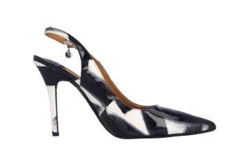 J.Reneé Brushed Pat High Heels in Übergrößen Mehrfarbig Deondra Black White große Damenschuhe – Bild 4