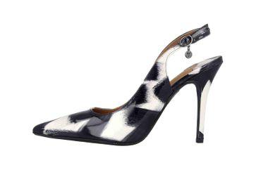 J.Reneé Brushed Pat High Heels in Übergrößen Mehrfarbig Deondra Black White große Damenschuhe – Bild 1
