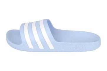 Adidas Adilette Aqua Core FTW Slides  Badesandalen in Übergrößen Blau EE7346 große Damenschuhe – Bild 1